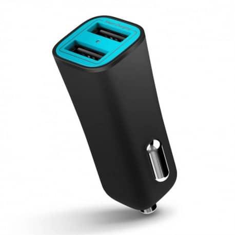 Incarcator inteligent de masina iLuv cu 2 porturi USB, 17W