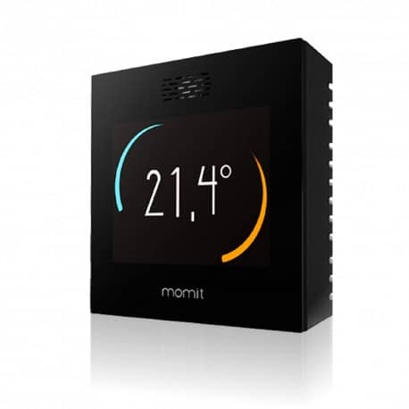 Termostat inteligent Momit Smart WiFi, control internet, senzor prezenta, geolocatie, touchscreen