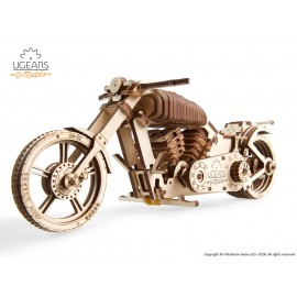Puzzle mecanic 3D lemn Ugears Motocicleta VM-02